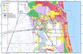 South Florida County Map by Evacuation And Re Entry City Of Jacksonville Beach