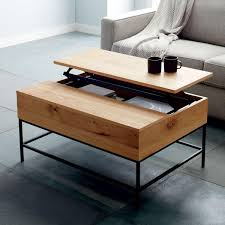 industrial coffee table with drawers industrial storage coffee table small 91 cm west elm australia