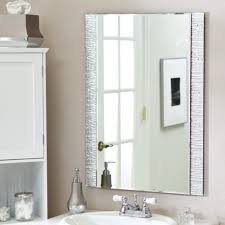 Mirrored Bathroom Vanities Bathroom Contemporary Vanity Bathroom Mirrors With Brushed Nickel