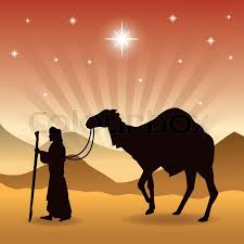 merry christmas and holy family concept represented by wise man