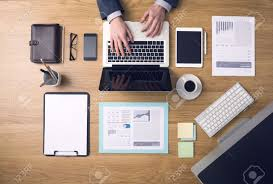 Office Desk Top View Desk Top View Stock Photos Royalty Free Desk Top View Images And