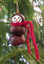 buckeye snowman ornament by beachnutstudio on etsy