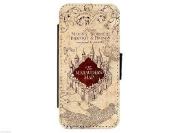 Harry Potter Marauders Map Harry Potter Wallet Style Flip Phone Case Cover Marauders Map Or