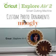 custom photo ornaments with the cricut explore air 2 moogly