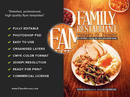thanksgiving restaurant flyer template flyerheroes