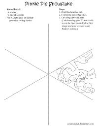 pinkie pie snowflake template by countschlick on deviantart