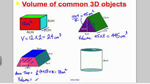 Surface Area And Volume Worksheets Grade 7 Volume 1 Gcse Higher Maths Tutorial 9 Youtube