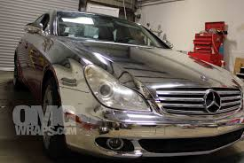 chrome benz custom chrome vehicle wrap car wraps in san francisco
