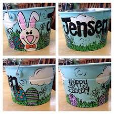 painted easter buckets painted galvanized metal easter diy