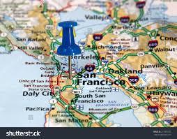 San Francisco In Us Map by Map Pin Point San Francisco California Stock Photo 271809272