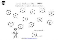 preschool letter x activities and worksheets little dots