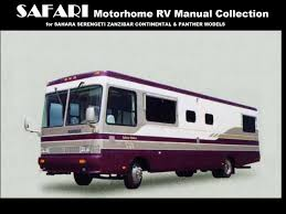safari motorhome operations manuals 480pg for sahara panther