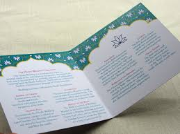 indian wedding programs real palettes teal fuchsia and gold indian wedding imbue you i do