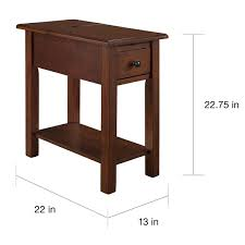 sutton side table with charging station in espresso free