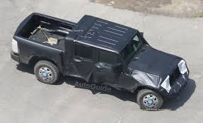 jeep pickup comanche jeep wrangler pickup spotted testing for the first time