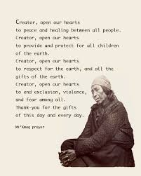 american thanksgiving prayer kmaq micmiac prayer for