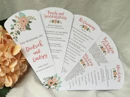 wedding programs fan rustic shabby chic petal fan wedding program the wedding