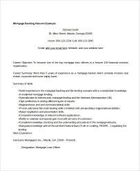 Mortgage Resume Simple Banking Resume 29 Free Word Pdf Documents Download