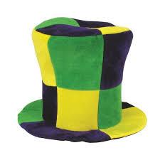 mardi gras hat checkered top hat mardi gras from american carnival mart