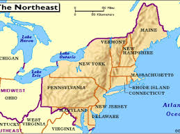 Map Of The Northeastern United States by Northeast Major Bodies Of Water By Allie Adams