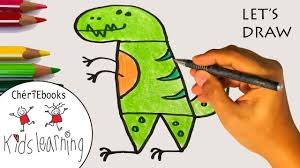 how to draw a t rex for kids lets draw step by step for kids