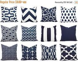 15 sale navy and white pillow cover navy blue throw