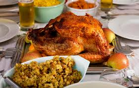 traditional thanksgiving day dinner stock image image of