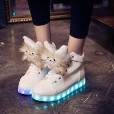 light shoes for women free shipping led shoes women valentine fashion usb rechargeable