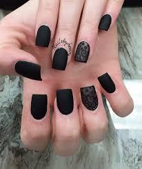 40 black nail art ideas matte black nail polish matte black