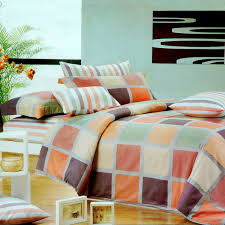 What Size Is A Full Size Comforter Blancho Bedding Modern Plaid 100 Cotton 3pc Comforter Cover