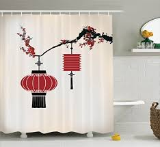 Oriental Shower Curtains Chinese Shower Curtains Amazon Com