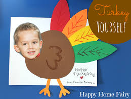 thanksgiving card for kids cute craft alert turkey yourself happy home fairy