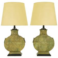 Urn Table Lamp Pair Monumental Bronze Chinese Urn Table Lamps For Sale At 1stdibs