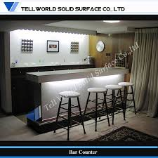 Modern Home Bars by Bar Counters For Home China Tw Artificial Stone Small Home Bar