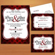 wedding invitation rsvp date queen of hearts alice in wonderland modern wedding collection