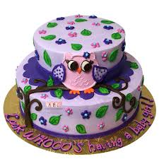 purple owl baby shower decorations 1648 2 tier owl baby shower cake abc cake shop bakery
