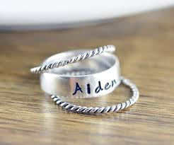 stacking name rings mothers ring stackable name rings gift for name rings