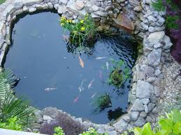 modern small backyard garden pond designs ideas with white garden