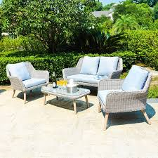 Wicker Patio Conversation Sets Mano Leisure Weimar Wicker Rattan Patio Conversation Set Hayneedle