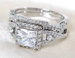 swarovski wedding rings images Swarovski crystal wedding rings diamond silver ring set 18kt white jpg