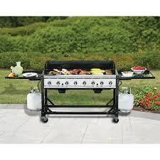 Brinkmann Portable Gas Grill by Member U0027s Mark 8 Burner Event Grill Folding Cart Hamburgers And