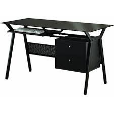 glass top computer desk furniture modern well designed black computer desk with glass top