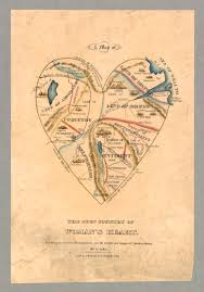 Map Of Northampton Ma A Map Of The Open Country Of Woman U0027s Heart Valentines Ephemera