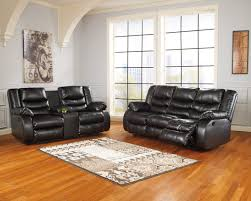 linebacker black 95202 2 pc living room set