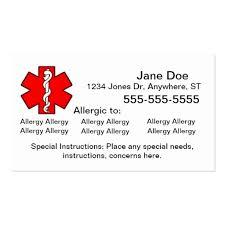 food allergy business card templates bizcardstudio