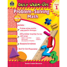 grade 1 math problems daily warm ups problem solving math grade 1 tcr3575