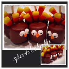 turkey pops thanksgiving turkey marshmallow and oreo pops set of