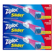 United Bags Cost Amazon Com Ziploc Gallon Slider Storage Bags 96 Count Health