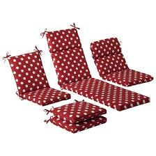 Dot Patio Furniture by Outdoor Cushion U0026 Pillow Collection Red White Polka Dot Target