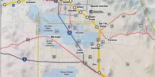 Phoenix Freeway Map by Adot Narrows Choices For Phoenix Tucson Rail Route